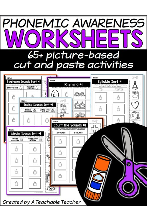 small resolution of Phonemic Awareness Worksheets - A Teachable Teacher
