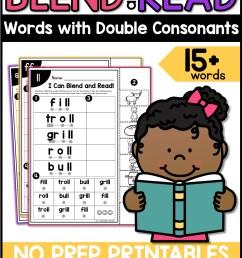 Double Final Consonants Worksheets by A Teachable Teacher [ 2249 x 1499 Pixel ]