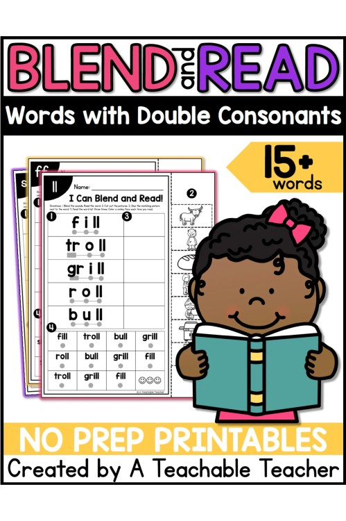 small resolution of Double Final Consonants Worksheets by A Teachable Teacher