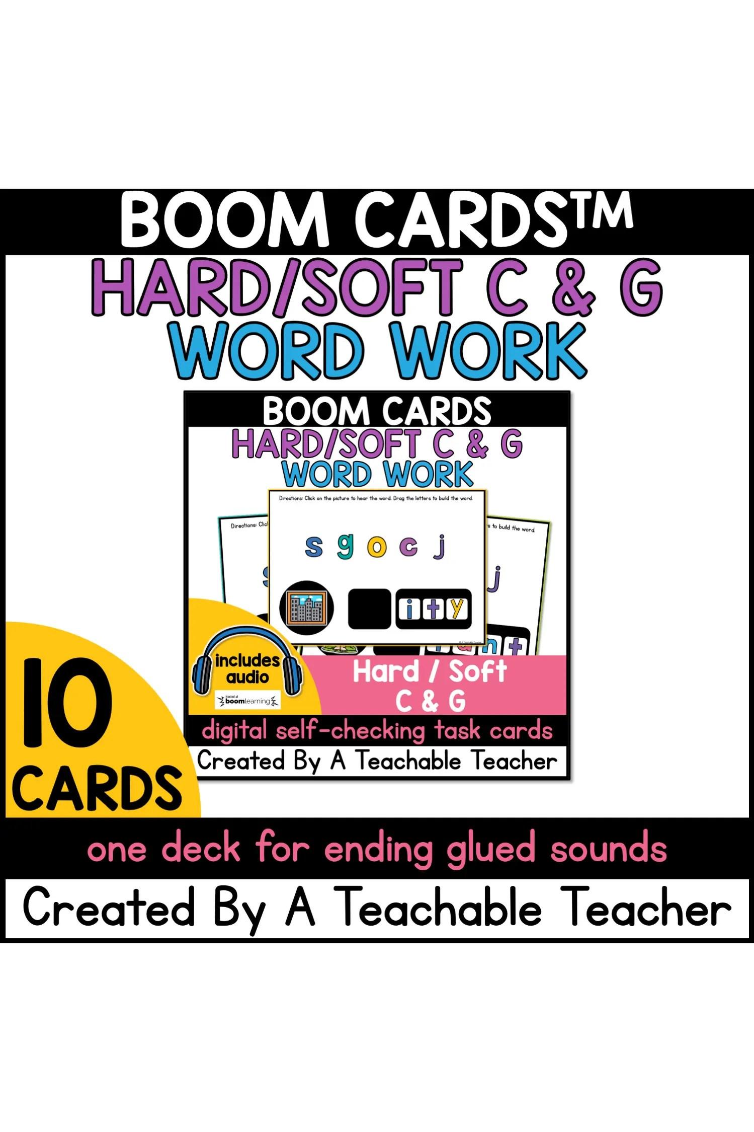 hight resolution of Soft/Hard C \u0026 G Word Work Boom Cards™ - A Teachable Teacher