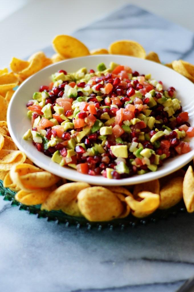 Pomegranate Avocado Dip by A Teaspoon of Home