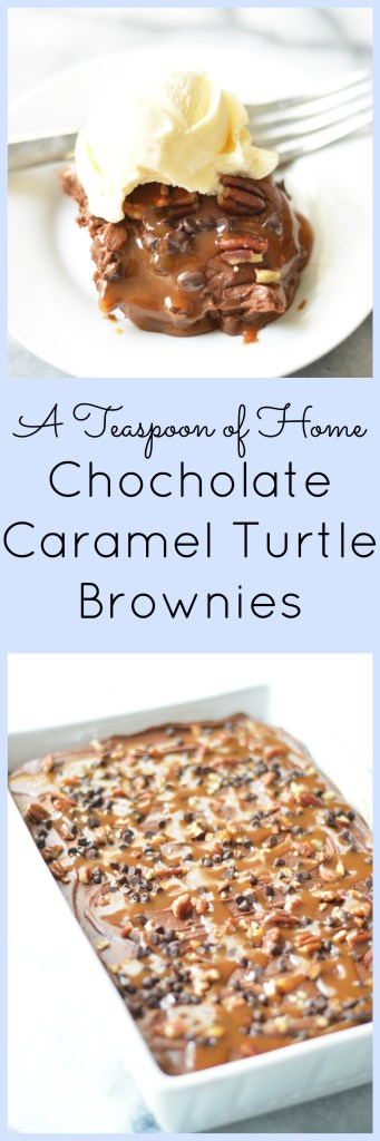 Chocolate Caramel Turtle Brownies
