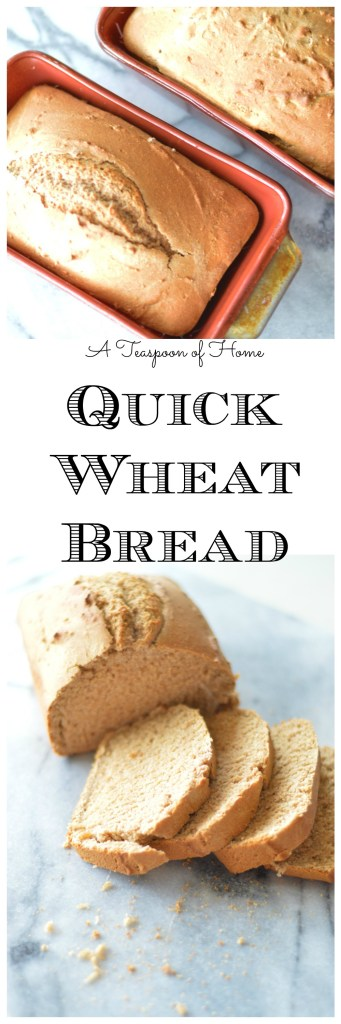 Quick Wheat Bread by A Teaspoon of Home