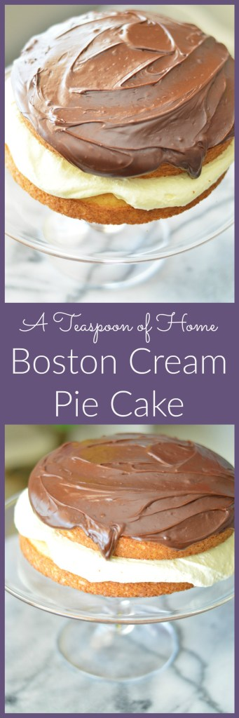 Boston Cream Pie Cake by A Teaspoon of Home