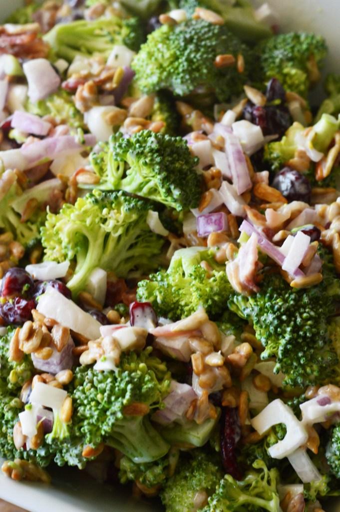 Creamy Broccoli Salad by A Teaspoon of Home