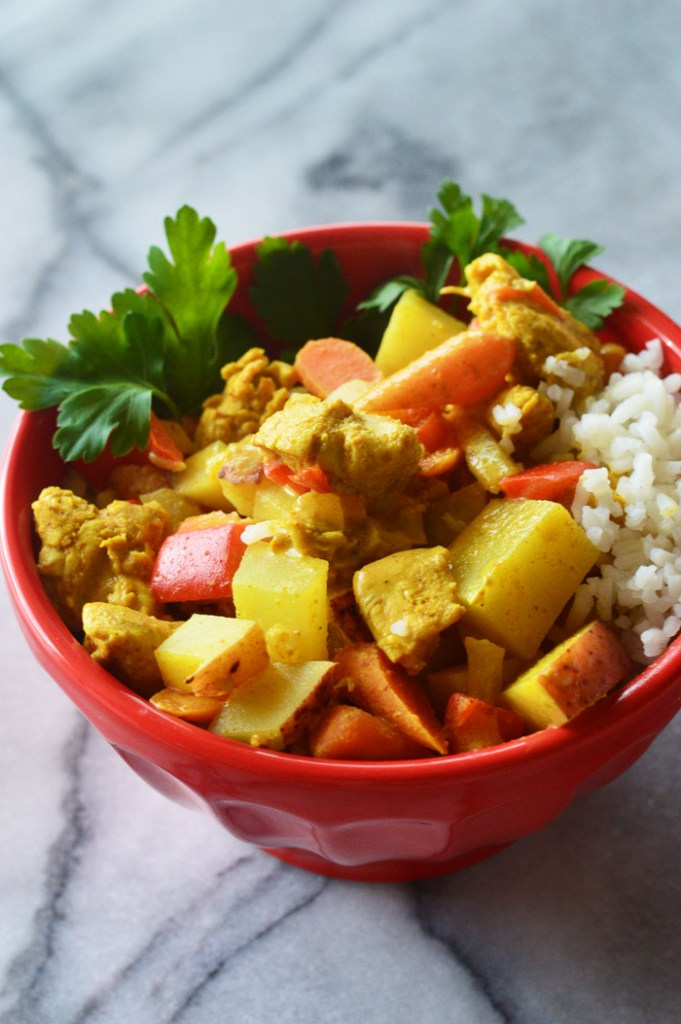 Easy Coconut Curry Chicken by A Teaspoon of Home