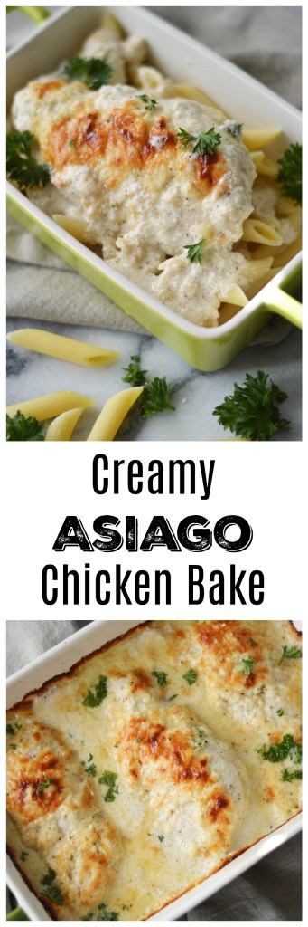 Creamy Asiago Chicken Bake by A Teaspoon of Home