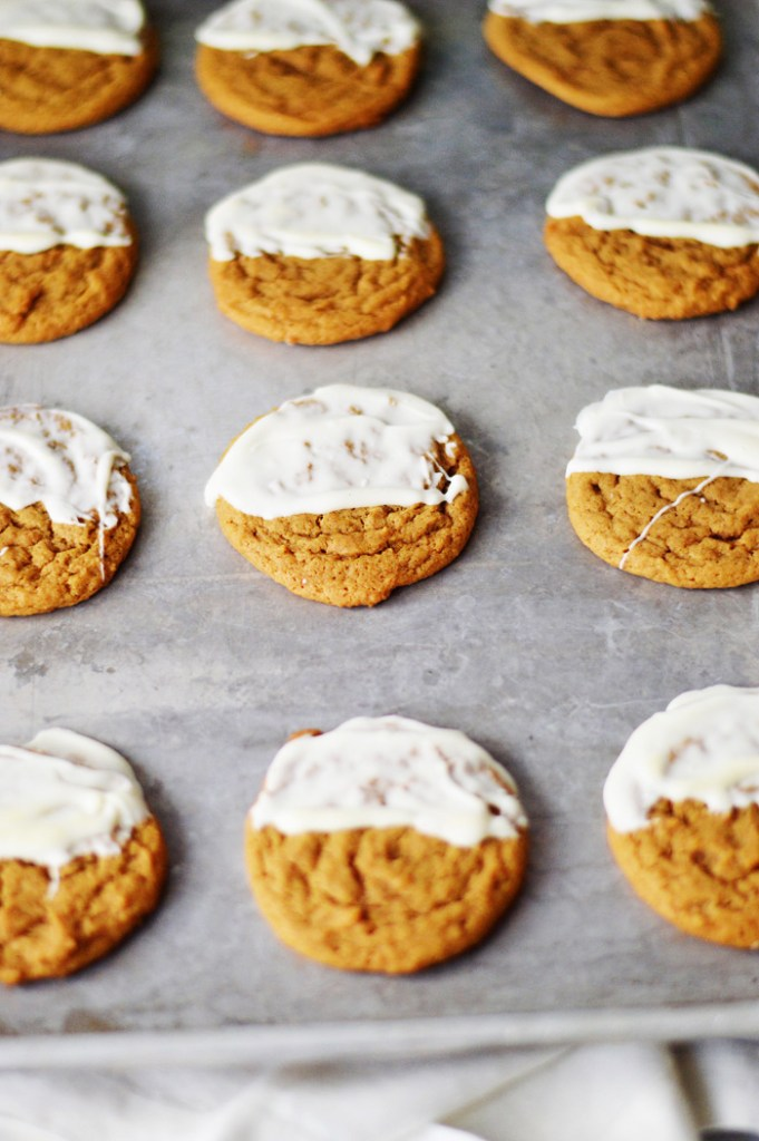 White Chocolate Dipped Soft Ginger Cookies by A Teaspoon of Home