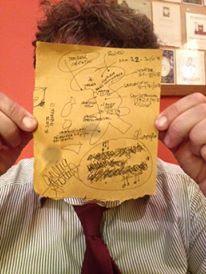 La versione analogica  della mappa dei festival... Grazie a Francesca Romana Lino, Giulia Alonzo e agli spritz con cui l'abbiamo inventata