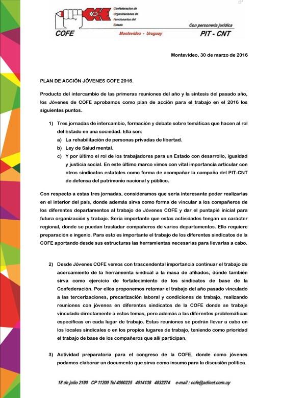 Plan de acción 2016- Jóvenes COFE-1
