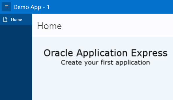 Oracle APEX Tutorial – Create an Application