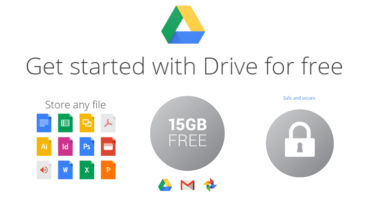Using Free Storage of 15GB provided by Google Drive