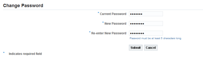 Change Oracle Apps Password first login