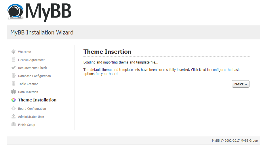 mybb theme insertion