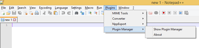 notepad plugin manager