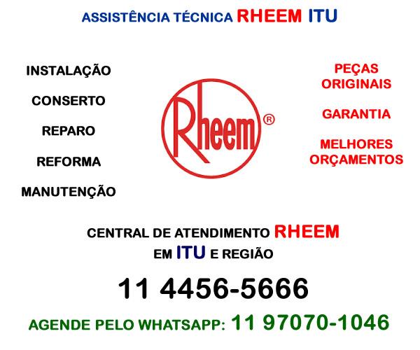 Assistência técnica ar-condicionado Rheem Itu