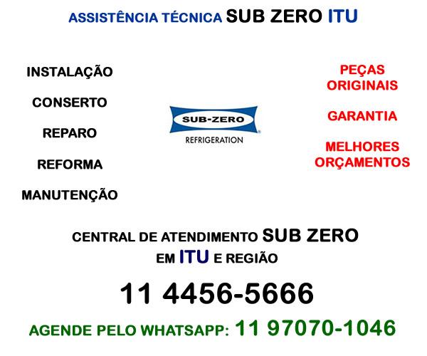 Assistência técnica Sub Zero Itu