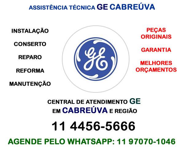 Assistência técnica Ge Cabreúva
