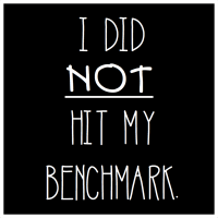 I Did Not Hit My Benchmark.