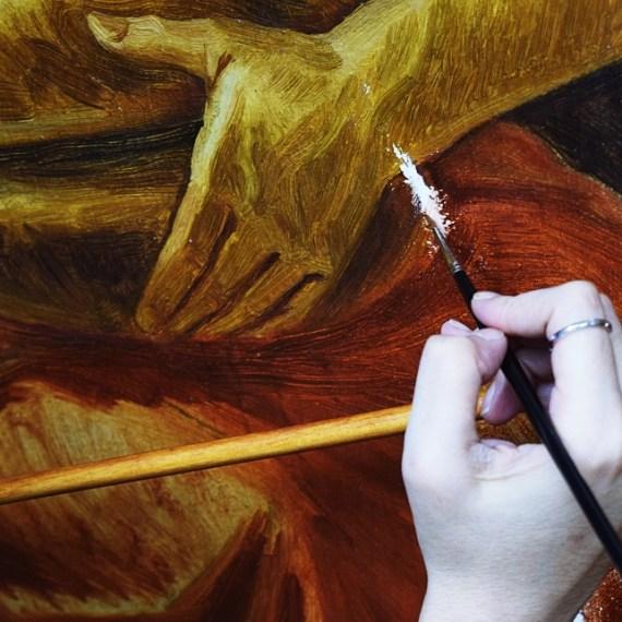 A conservação-restauração de pinturas: a opção pela reintegração cromática, técnicas e evolução