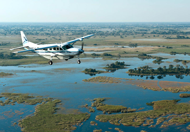 Botswana - Fly over the Okavango Delta