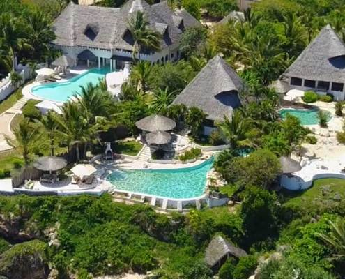 Luxury beach lodge private Villas Msambweni Beach House