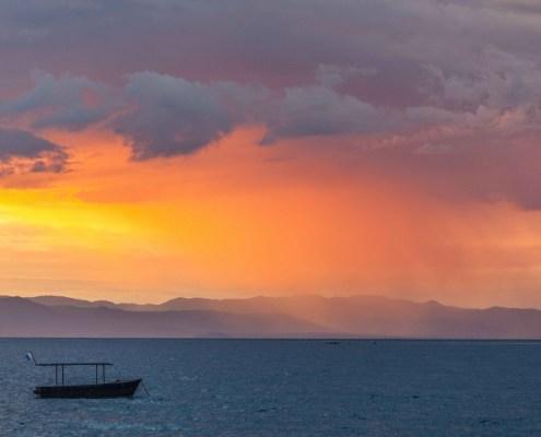 Orange sunset Malawi