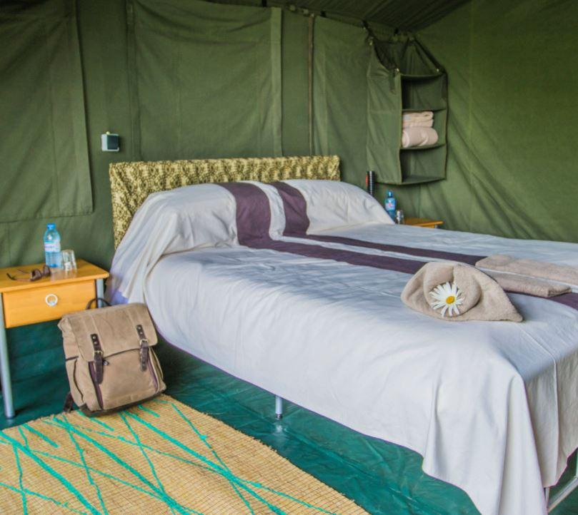 Bukima camp slaapkamer
