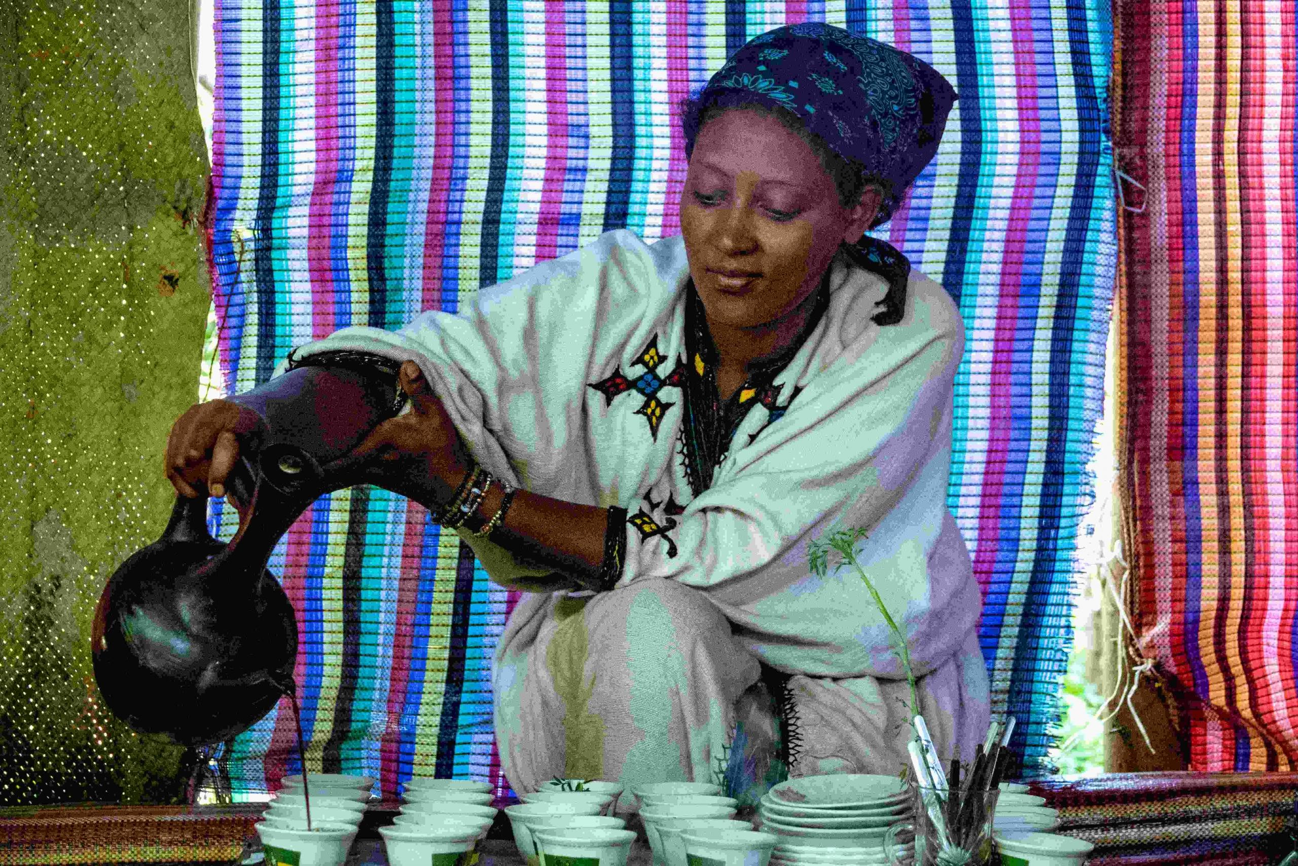 Koffie ritueel Ethiopië