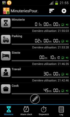 exemples de minuteries sous android
