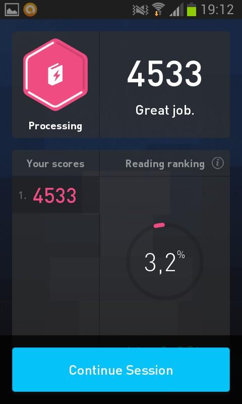 Score de lecture rapide