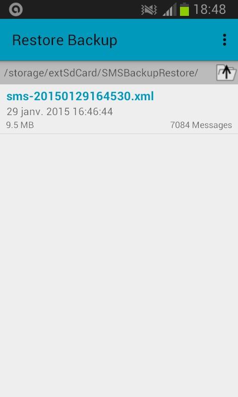 Restaurer une sauvegarde avec SMS backup