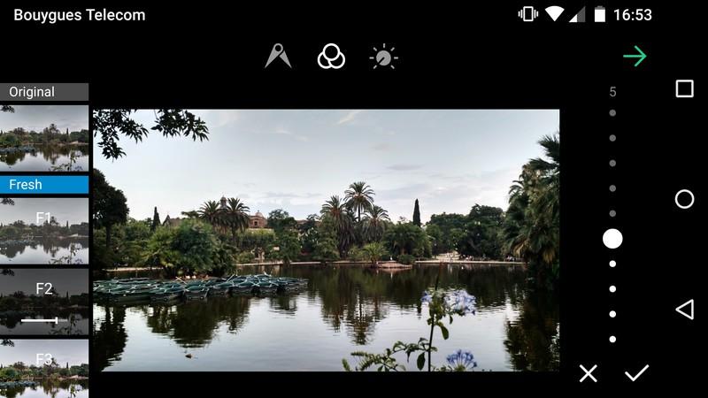 Appliquer un filtre de retouche sur les photos