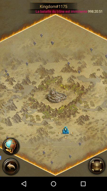 Carte du royaume avec les membres de l'alliance