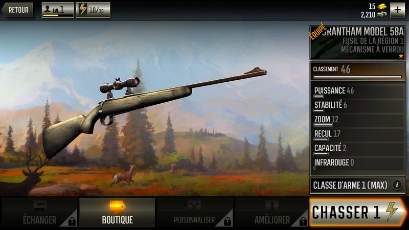 Les armes de Deer Hunter 2017