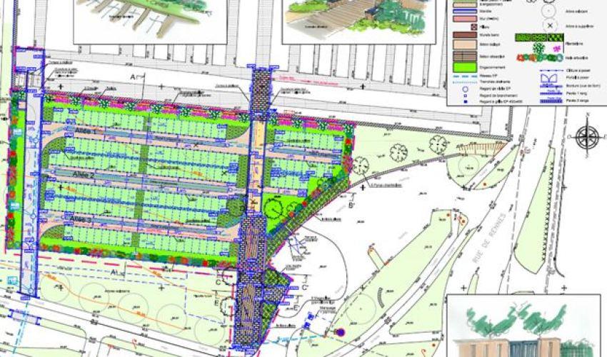 Ville de Melesse - Extension Cimetière - Réaménagement ABE