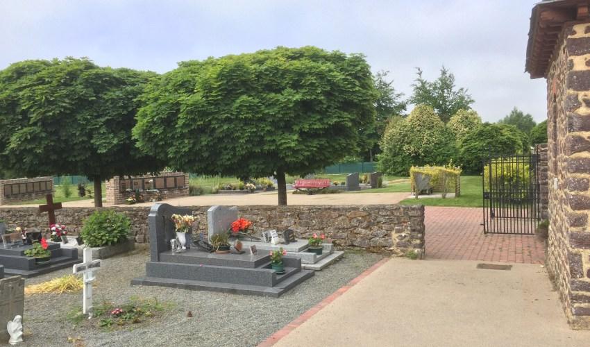 Commune de Pleumeleuc - cimetière - Réalisation ABE