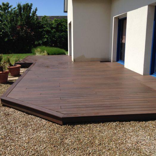 Le terrain et la pose de terrasse en bois sur terreà Rennes Atelier des Sols # Terrasse En Bois Sur Terre