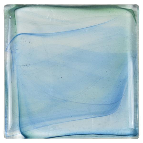 carrelage verre vagues bleu
