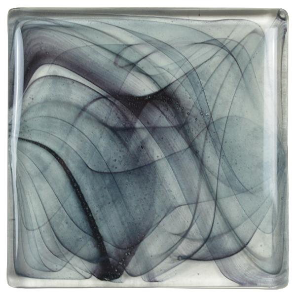 carrelage verre vagues gris foncé
