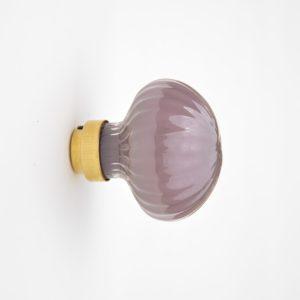 Poignée de porte-Door knob-Verre soufflé-Laiton-Handblown glass-brass-Atelier George