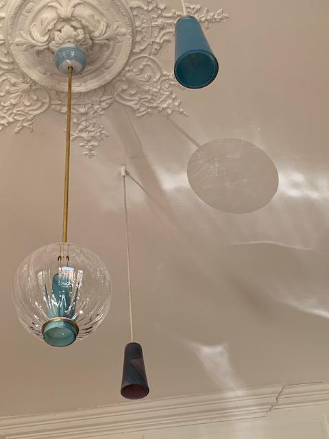 Appartement Lyonnais - Suspensions Globe & Delta, Collection Moire