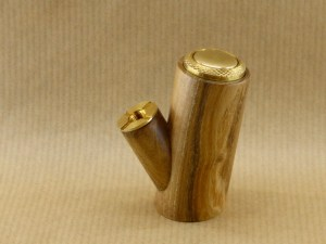 right side view of my electronic pipe worked in acacia