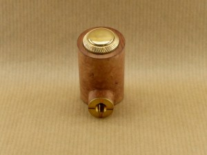 """front side view of my electronic pipe """"reverse poker"""" worked in briar wood"""