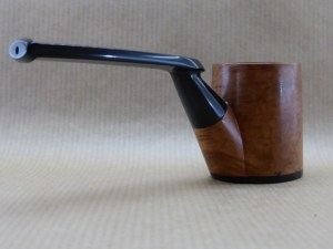 rear right view of a Horizon collection pipe worked with briar and ebony