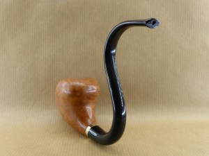 """briar pipe """"horny curves"""", back view"""