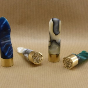 "Original pipe nut ""Gilles Art'n Smoke"" in pearl acrylic, blue, green or mother-of-pearl and black"