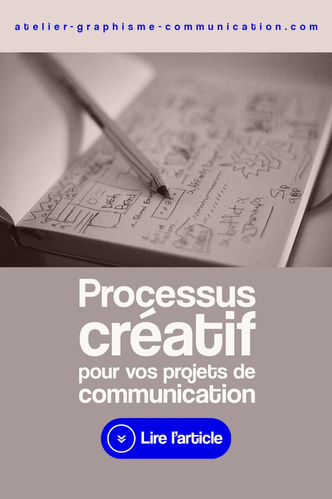 Processus créatif projet communication