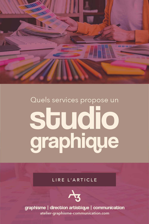 Quels services propose un studio graphique ?
