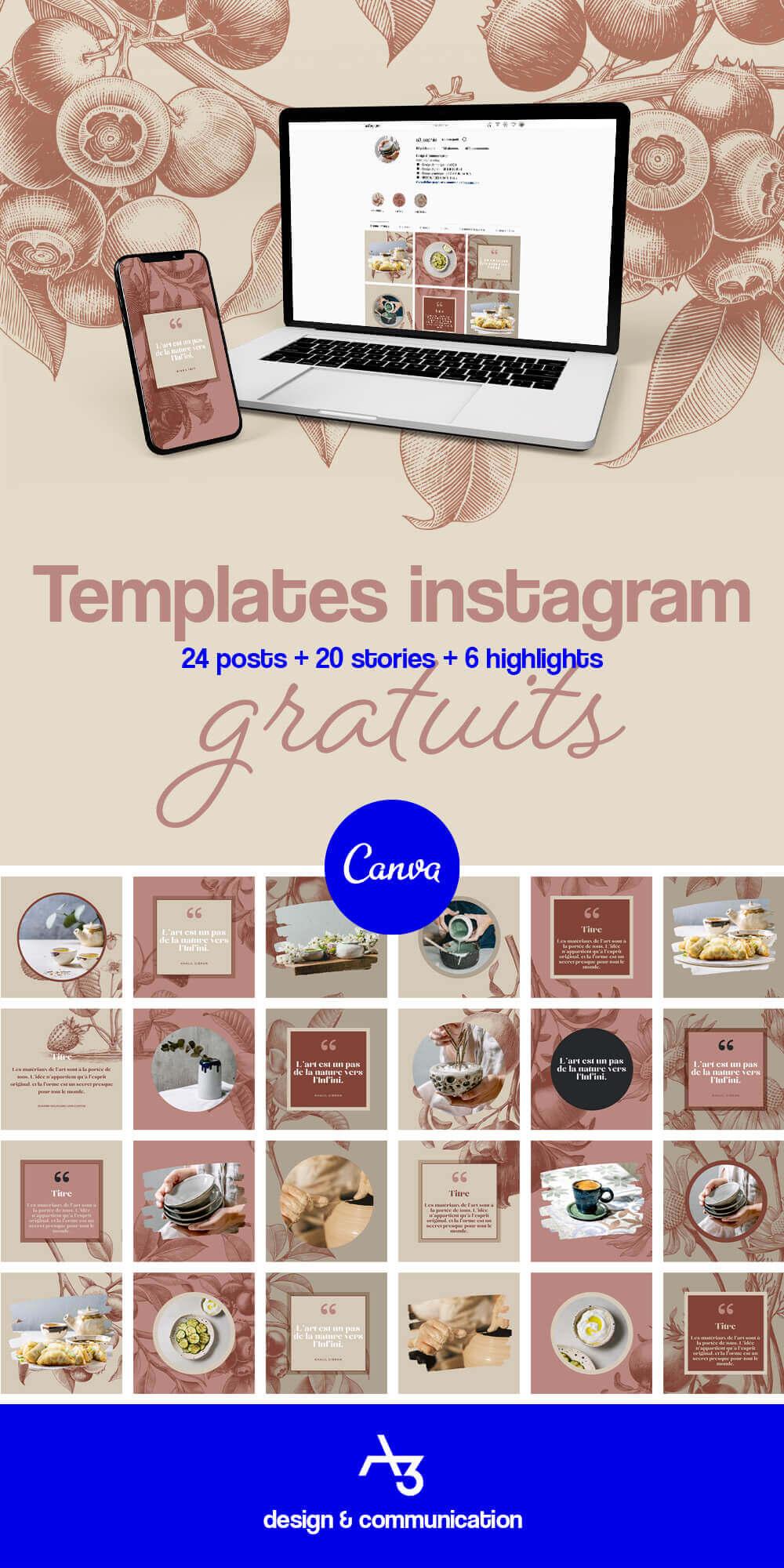 Templates instagram gratuits